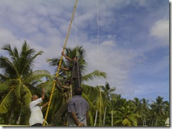 Antenna  mast installation