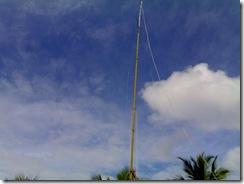 Antenna mast  guy wires