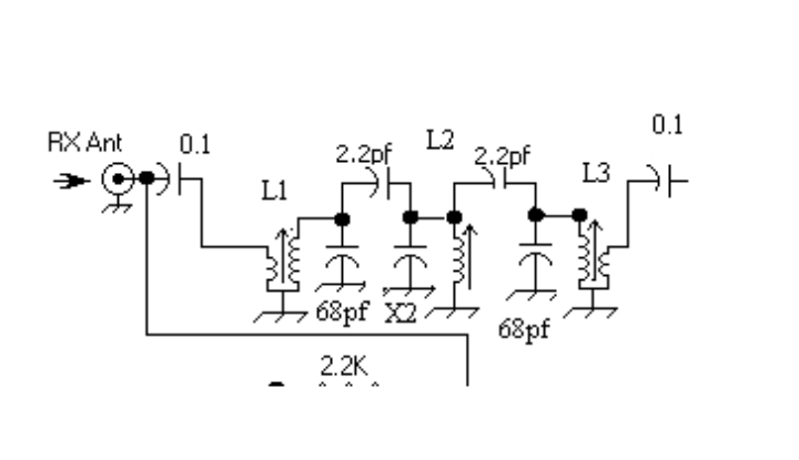 Bitx version 3 band pass filter