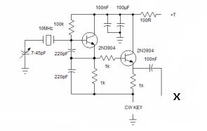 bitx20 CW module