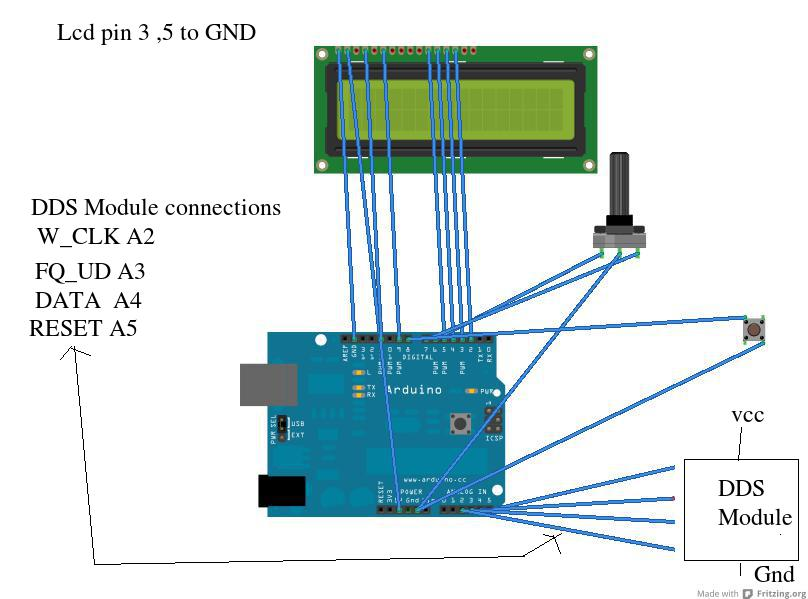 Plug and Play DDS VFO with arduino – TT's Jottings-Blog of